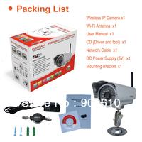 Foscam IR-CUT Wireless IP Camera FI8904W Wide-Angle Night-Vision Smartphone-View outdoor waterproof Camera