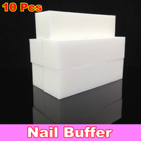 [ Retail ] High-Quality White Nail Buffer Block File 4 Way Shine, 10pcs/lot + Free Shipping