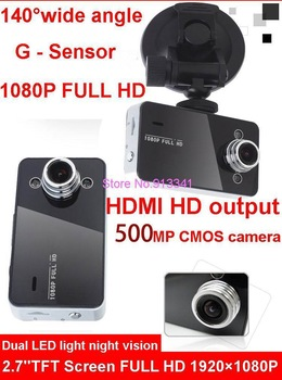 2.7'' TFT Screen 500MP CMOS Car Camera,Car Video Recorder with HD 1920*1080P 25 fps + HDMI + 140 Degree wide angle + G-Sensor