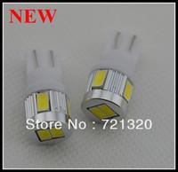 Free Shipping T10 6SMD 5730 5630 chip high bright Car LED Bulbs auto Interior Lighting+ Canbus NO OBC + Aluminum cover+12v-24v