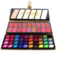 Naked Eye shadow Palette Make-up 1pcs/lot 64color Makeup Lipstick+Fonudation Eyeshadow Makeup GZ1004