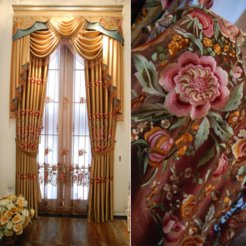 Curtains with designs