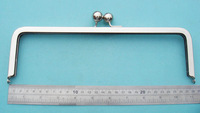 "Nickel/SIlver Colour  300 sets/lot, 11""*4.5""Clutch Purse Frame clip clasp handle"