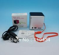 10PCS/LOT High Quality Portable Music Angel MD07 TF card Portable Mini Digital Speaker Color Freeshipping