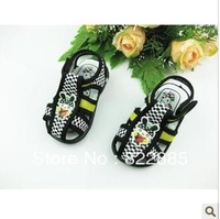 2012 summer cloth sandals baby soft sound slip-resistant outsole toddler shoes toe cap covering sandals child