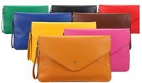 Fashion color block messenger bag messenger bag briefcase file bag envelope bag day clutch bag fashion female bags