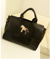 New arrival women's handbag 2013 spring fashion bag vintage handbag fashion tote bag casual handbag  Free shipping