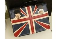 2013 fashion preppy style torx flag portable women's  shoulder handbag fashion shopping big bags  Free shipping