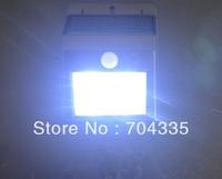 Solar White 4 LED  SECURITY LIGHT SHED GARAGE MOTION SENSOR light