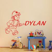 firemenr is for a Name  - Wall Vinyl Art Decor  Children's Room  Vinyl Sticker  60*100CM  Free shipping