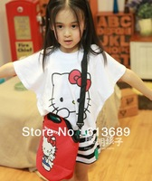 5PCS/LOT&Free Shipping!2013 wholesale hello kitty,the children's dress,the summer of jacket the children,hot sales,2013 fashion