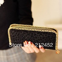 2014 New wave Queen leopard horse hair Leopard Long Clutch card package women lady girl Wallets purse card free shipping