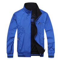 Plus size men's clothing; 13 spring and autumn male reversible sports outerwear/casual thick jacket