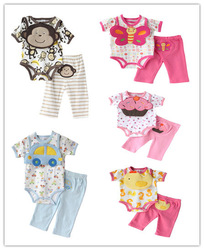 Retail,Carter's Babys Animal Fashion Sets ,3pcs (Bib + Bodysuit + Pant Set), Carters Baby Beautiful Clothes, Freeshipping(China (Mainland))