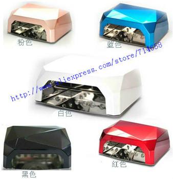 wholesale 2013 New Long Life 110V 36W uv Lamp Light Dryer Nail Art Led CCFL gel curing diamond uv lamp 1pc/lot free shipping