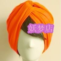 Fashion summer thin safflowers cross vintage wide ribbon hairband bandanas colorful orange headband turban free shipping 20color
