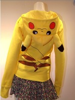 Factory Made Winter Spring Pikachu Hoodie Pokemon Animal  Hoody Sweatshirt Cotton Coat Cosplay Costume