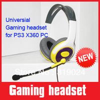 Brand new 40mm Amplified speaker Stereo gaming headphones with gaming and chatting background sound effect for PS3 XBOX360 PC