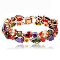 Crystal Zircon Bracelet 18K champagne gold plating European and American fashion bridal jewelry 2013 new female Mona Lisa