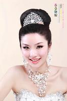 Free shipping   birds pay homage to the king married Korean peacock big crown princess rhinestone
