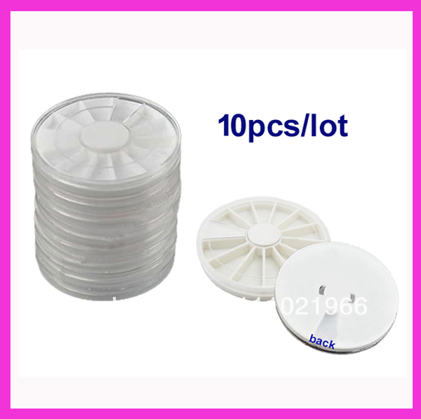 New 30pcs/lot Rotatable Container Case Nail Art Empty Storage Wheels Rhinestones Beads Slices Nail Art Box(China (Mainland))