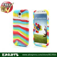 Free shipping Elegant Colorful Stripe Silicone Case for Samsung Galaxy S IV 4 i9500 i9505 Unique Design 10pieces/lot