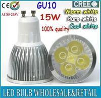 5X High power CREE GU10 5x3W 15W 85-265V Dimmable Light lamp Bulb LED Downlight Led Bulb Warm/Pure/Cool White Energy Saving