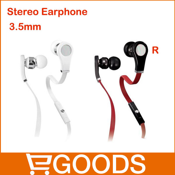"Free Shipping ""L"" plug Include Microphone 3.5MM In-ear Earphone FOR Mobile Phone MP3/MP4/ DJ Headphone,Dropshipping & Wholesale(China (Mainland))"