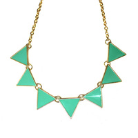 Free Shipping Fashion Necklace Jewelry  2014 New Neon High Quality Triangle Bib Necklace For Women Jewelry N306