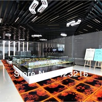 Liquid motion lava floor, modern creative  floor tiles, flowing liquid floor tiles