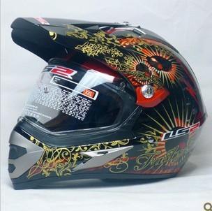 LS2 helmets Highway 433 off-road dual-purpose helmet off-road helmet motorcycle helmet off-road car helmet red TaroT 267