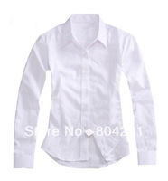 Free shipping women Polo Striped shirt  2014 lady fashion long sleeve formal shirts large size many colors available