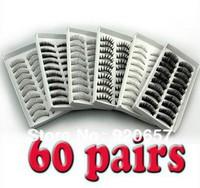60 Pairs False EyeLash Eyelashes Eye Lashes Makeup New