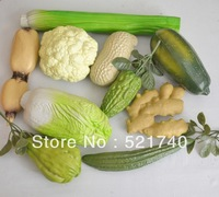 Artificial fruits and vegetables model props children toy plastic set free shipping to CN