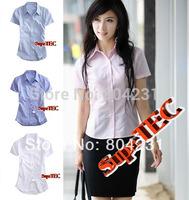 Hot Sale!!! Short Sleeve women Polo shirt 2014 new women blouse lady  summer fashion formal shirts Free Shipping M L XXL XXXL