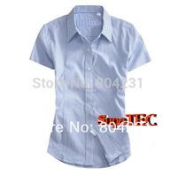 Free shipping striped Women blouse 2014 new ladies' polo shirt women's summer desingner brand shirt