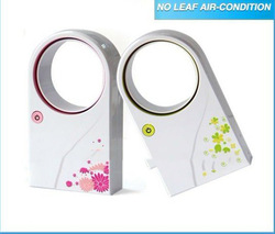 Wholesales No Leaf Air-Condition fan ABS Mini USb Bladeless Fan mini electric cooling Fans 4color availables free shipping(China (Mainland))