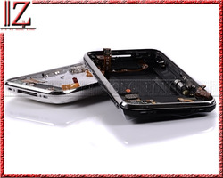 Back Cover Housing for iPhone 3Gs with Front Bezel Frame full set Assembly+Sim Tray(Free) black and white 1pic//lot(China (Mainland))