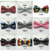 Mix Wholesale Print dot polka dot Plaid Stripe Men Dress Bow tie fashion women's Dress Butterfly bowtie Cravat
