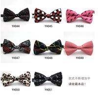 Mix Wholesale Print Dot Plaid Leopard Men Dress bow tie fashion women's Dress Butterfly bowtie Cravat Wedding Accessories