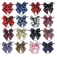 Mix Wholesale Women's cravat bow Scottishpattern Plaid  Striped Leopard Women Dress bow tie Student School Uniform Bowtie