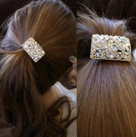 New Style Daisy Square Headbands with crystal center metal Hair accessories AF072