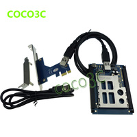Free shipping PCI express to pcmcia adapter  express card PCI-e / USB 2.0 to expresscard 34 / 54 card reader