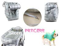 Light gray Scottish checkered Fashion bag Fine grid Jacquard nylon Pet Dogs Carrier Bag