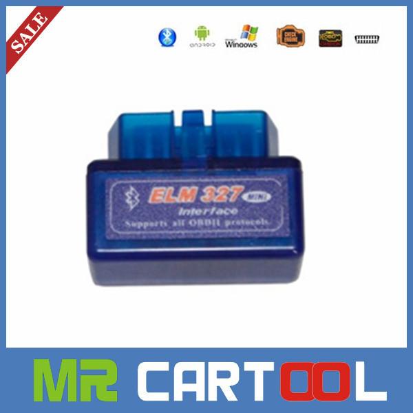 2014 hot sale A+++ quality V2.1 Super mini elm 327 Bluetooth OBDii / OBD2 Wireless Mini elm327 Free Shipping(Hong Kong)