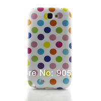 Polka Dots TPU Gel Rubber Cover Case For Samsung Galaxy Note II Note 2 N7100 JS0425 free drop shipping