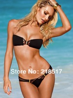 2014 women Hot Sale High Quality Fashion Swimwear Bandeau Top and Brazilian Bottom Bikini Set Sexy Swimsuit D-485