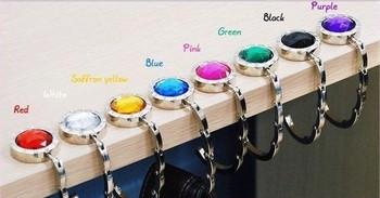 Free Shipping Bag Hook Round Foldable Bag Hanger/Purse Hook/Handbag Holder with Acrylic Mix Fashional Bag