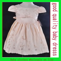 Baby princess dress Satin embroidery dress white flower dress babys girl's princess dress for 0-6 years old girl korean style