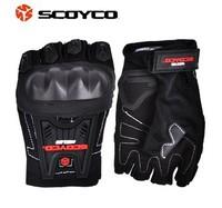 2015  New SCOYCO summer riding a bike half finger gloves slip drop resistance / motorcycle gloves   free shipping